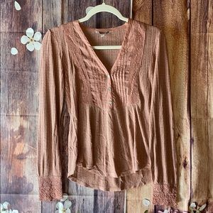 Lucky brand long sleeve shirt size small